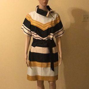 NWT Karen Millen Striped Belted Dress